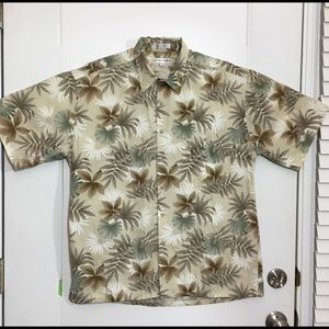 Pierre Cardin short sleeve Hawaiian shirt SZ L